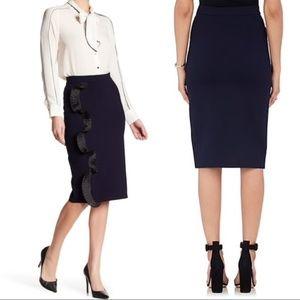 Opening Ceremony Navy Blue Black Ruffle Skirt XS